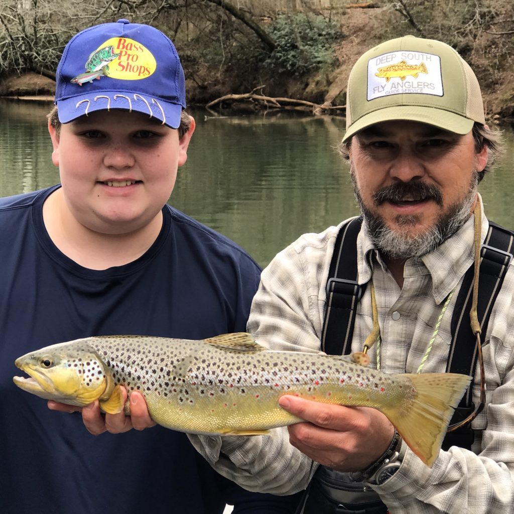 Chattahoochee River fly fishing guide trip