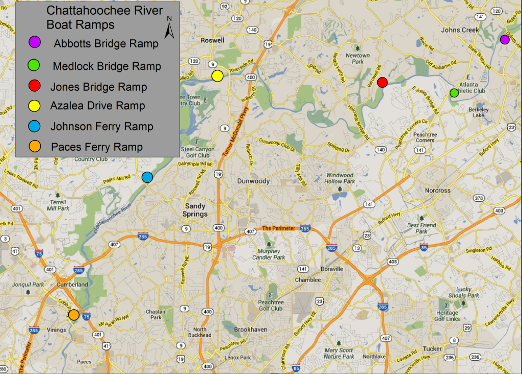 Deep South Fly Anglers Chattahoochee River Maps - Georgia map chattahoochee river