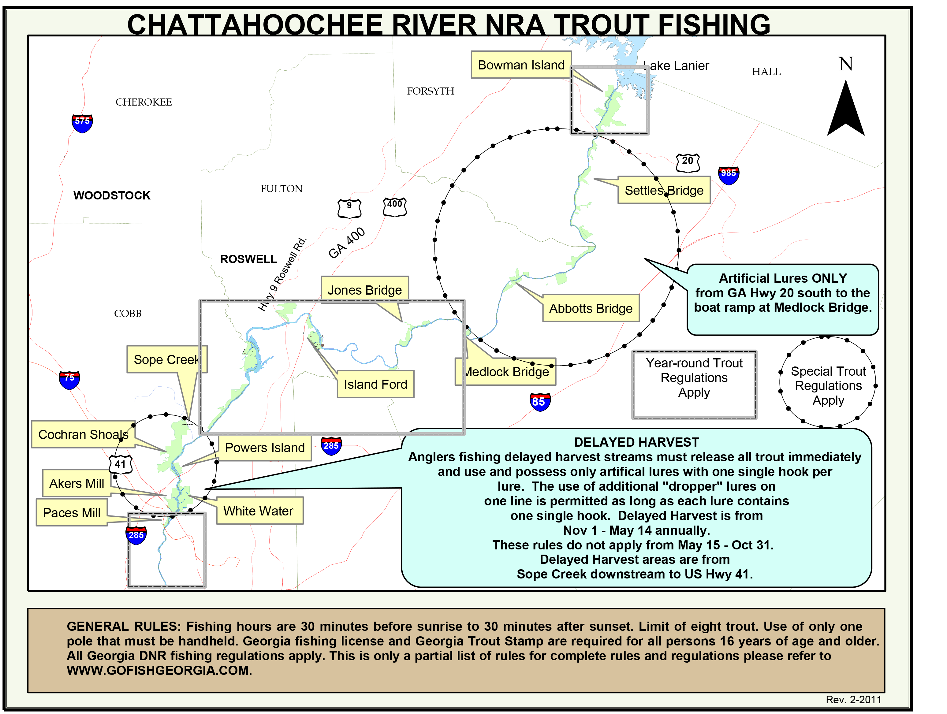Deep south fly anglers chattahoochee river maps for Chattahoochee river fishing